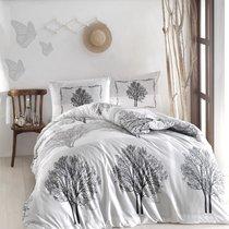 Постельное белье Ranforce Tree, цвет серый, размер 1.5-спальный - Altinbasak Tekstil