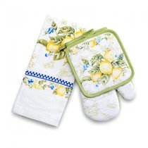 Набор Лимон (руковичка+прихватка+полотенце) - Valtery