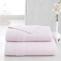 Полотенце Karna Truva, микрокотон двухсторонний, цвет светло-розовый, 50x100 - Bilge Tekstil