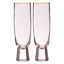 """Набор фужеров для шампанского Lenox """"Трианна"""" 320мл, 2шт, (пудровый), цвет пудра - Lenox"""