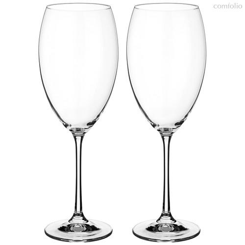 Набор бокалов для вина из 2 шт. GRANDIOSO 600 МЛ ВЫСОТА=26 СМ (КОР=12Набор.) - Crystalex