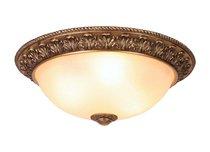 Donolux Classic Fantasia потолочный светильник, плафон крашеное стекло, диам 49 см, выс 20 см, 3хЕ27, цвет состаренное золото - Donolux