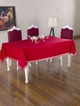 Скатерть DO&CO c гипюром 160x220 КДК, цвет бордовый - Meteor Textile