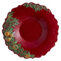 "Блюдо для центра стола Bordallo Pinheiro ""Рождественская гирлянда"" 42см - Bordallo Pinheiro"