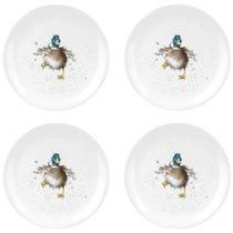 "Набор тарелок закусочных Royal Worcester ""Забавная фауна"",""Утка"" 20см, 4шт, костяной фарфор - Royal Worcester"