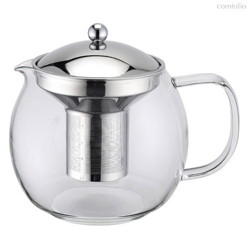 Чайник заварочный Weis с металлическим фильтром, 1л, стекло - Weis