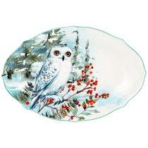 Блюдо Овальное Lefard Лесная Сказка Сова 30,5x20См - Lianjun Ceramics