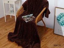 """Плед Cleo """"CARRE"""" велсофт полуторный 150*200 150/004-CR, цвет шоколадный, 150 x 200 - Cleo"""