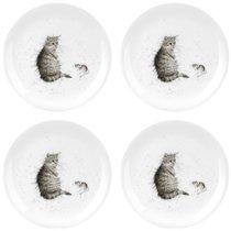 """Набор тарелок закусочных Royal Worcester """"Забавная фауна"""",""""Кот и мышь"""" 20см, 4шт, костяной фарфор - Royal Worcester"""