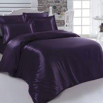 Постельное белье Karna Arin, шелк, цвет фиолетовый, 2-спальный - Bilge Tekstil