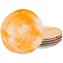 Набор Тарелок Десертных Из 6 шт. Диаметр 21 см Коллекция Парадиз Цвет Солнечный Свет, цвет желтый, 21 см - Hebei Grinding Wheel Factory