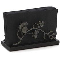 """Подставка для салфеток Michael Aram """"Чёрная орхидея"""" 20см (чёрная) - Michael Aram"""