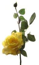 Роза Лимбо с почкой ярко желтая 30 см живое прикосновение (36 шт.в упак.) - Top Art Studio