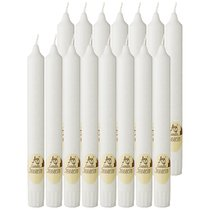 Набор Стеариновых Свечей Из 16 Шт. Eco White Высота 20 см - Adpal