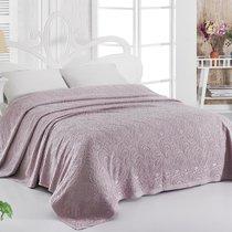 Простынь махровая Karna Esra, цвет темно-сиреневый, размер 200x220 - Karna (Bilge Tekstil)