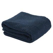 Полотенце для рук фактурное темно-синего цвета из коллекции Essential - Tkano