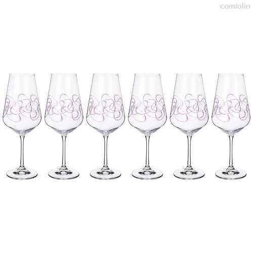 Набор бокалов для вина из 6 шт. SANDRA 550 мл ВЫСОТА=26 СМ. (КОР=1Набор.) - Crystalex