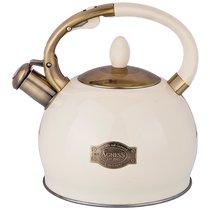 Чайник Agness Со Свистком 3,0 Л Термоаккумулирующее Дно, Индукция, цвет белый - L&K