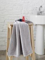 """Полотенце махровое """"KARNA"""" с жаккардом DAMA 70x140 см 1/1, цвет серый - Bilge Tekstil"""