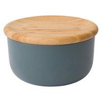 Емкость для хранения сыпучих продуктов с бамбуковой крышкой 15*8см Leo, цвет серый - BergHOFF