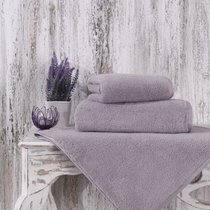 Полотенце Karna Mora, микрокотон, цвет светло-сиреневый, 70x140 - Karna (Bilge Tekstil)