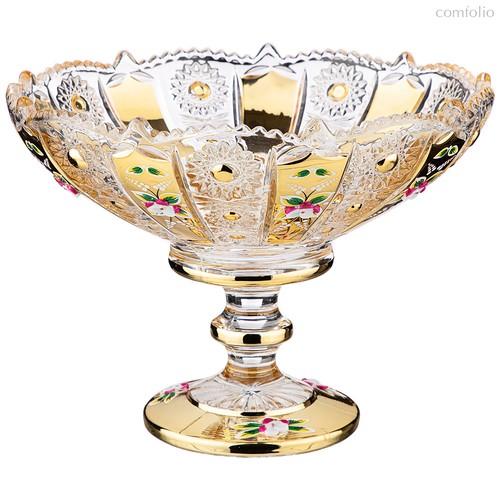 Конфетница Lefard Gold Glass 19,5x19,5 см. Высота 15 см. - I AND A