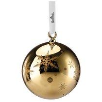 """Украшение новогоднее, шар большой """"Снежинки"""" (золотое) - Rosenthal"""