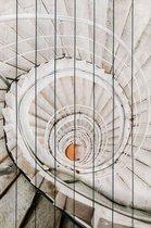 Белая лестница 60х90 см, 60x90 см - Dom Korleone
