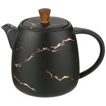 Чайник Заварочный Коллекция Золотой Мрамор Цвет: Black 850 Mл - Porcelain Manufacturing Factory
