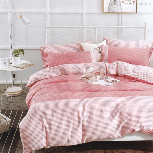 Постельное белье Karna Delux Servin, подростковое, цвет абрикосовый, 1.5-спальный - Karna (Bilge Tekstil)
