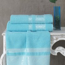 Полотенце махровое Karna Rebeka, цвет бирюзовый, 70x140 - Bilge Tekstil