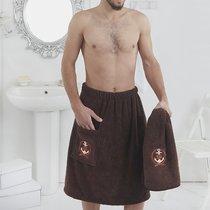 """Набор для сауны """"KARNA"""" мужской махровый PAMIR 1/2, цвет коричневый, 50x90, 70x150 - Bilge Tekstil"""