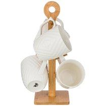Набор Из 4-Х Кружек 360мл На Подставке - Yinhe Ceramics
