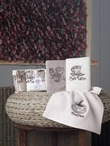 "Кухонные полотенца махровые ""KARNA"" CAFE PRIMA 30х50 см 1/3 - Bilge Tekstil"