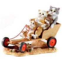 Веселый картинг 15.5х13 см - Сomic Cats - Enesco
