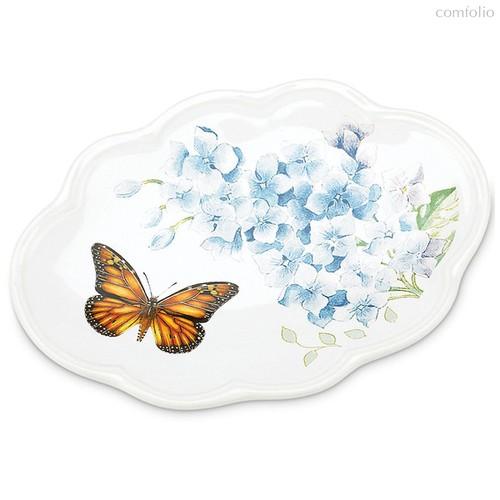 """Мыльница Lenox """"Бабочки на лугу"""" 15см (голубая) - Lenox"""
