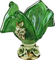 Декоративная Чаша 20*20 см Высота 22 см (Кор 1 шт. ) - White Cristal