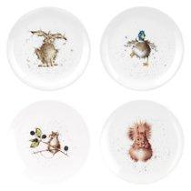 "Набор тарелок закусочных Royal Worcester ""Забавная фауна"" 20см, 4шт, костяной фарфор - Royal Worcester"