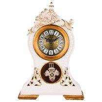 Часы Настольные Кварцевые Цветы Белые С Золотом 26X10X37 см Диаметр 11 см - Shantou Lisheng