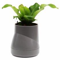 Горшок цветочный Hill Pot, большой, серый - Qualy