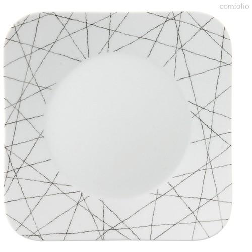 "Тарелка закусочная квадратная 21см ""Фри Спирит Старс"" - Rosenthal"