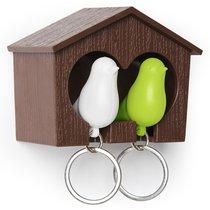 Держатель для ключей Sparrow, белый/зеленый - Qualy