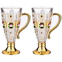 Набор Из 2-Х Кружек Lefard Gold Glass 250 мл Высота 16,5 см.