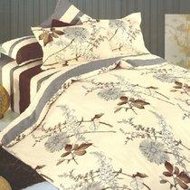 Комплект постельного белья C-29, цвет бежевый, размер 1.5-спальный - Valtery