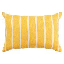 Чехол на подушку декоративный в полоску горчичного цвета из коллекции Essential, 40х60 см - Tkano