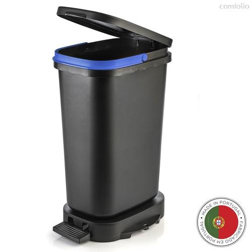 Мусорный бак с педалью BE-ECO 20л, черный-синий, цвет синий/черный - Faplana