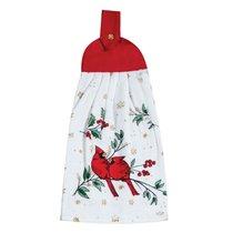 """Полотенце кухонное Kay Dee Designs с держателем """"Красный кардинал"""" 23х46см, хлопок - Kay Dee Designs"""