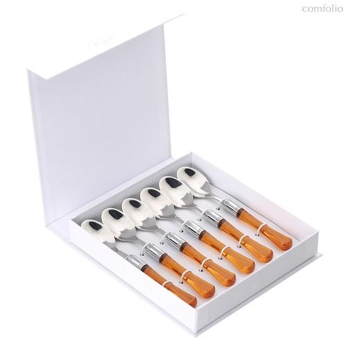 Набор чайных ложек 6 штук Заффиро Ambra, подар.упаковка - EME Posaterie