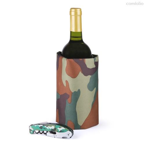 Набор для вина Camouflage, цвет зеленый - Koala