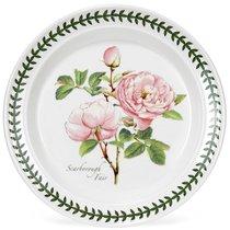 """Тарелка пирожковая Portmeirion """"Ботанический сад.Розы. Скаборо розовая роза"""" 18см - Portmeirion"""